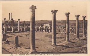 Algeria Ruines Romaines de Timgad Marche de Sertius