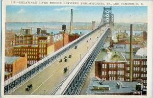 PA - Philadelphia, Delaware River Bridge Leading to Camden, NJ
