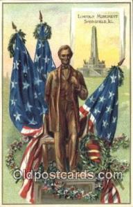 Abe Lincoln 16th USA President Postcard Postcards