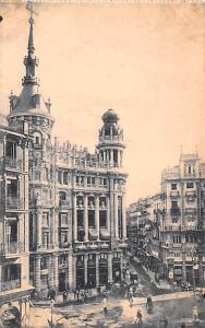 Spain Old Vintage Antique Post Card Plaza de Canalejas Madrid Unused