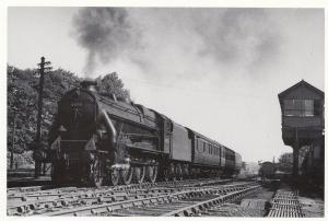LMS Caprotti Class 4-6-0 no 44751 Manchester Train at Wilmslow Station Postcard