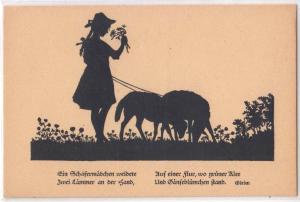 Silhouette - Em Frohes Wethnachtsfefy - shepherd girl