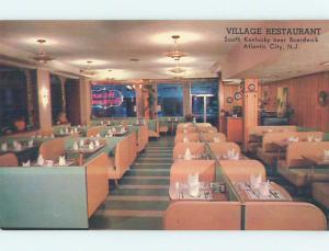 Unused Pre-1980 VILLAGE RESTAURANT Atlantic City New Jersey NJ p5962