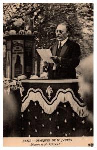 19235 Funeral  Events  of Jean Jaures 1914   Speech