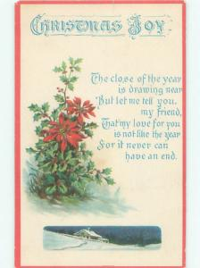 Divided-Back CHRISTMAS SCENE Great Postcard W9852