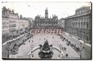 Postcard Old Lyon Place Bellecour