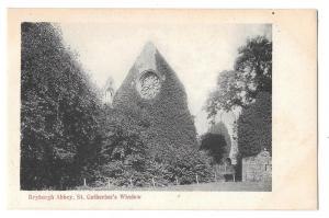 Scotland Dryburgh Abbey St Catherines Window GWW Postcard