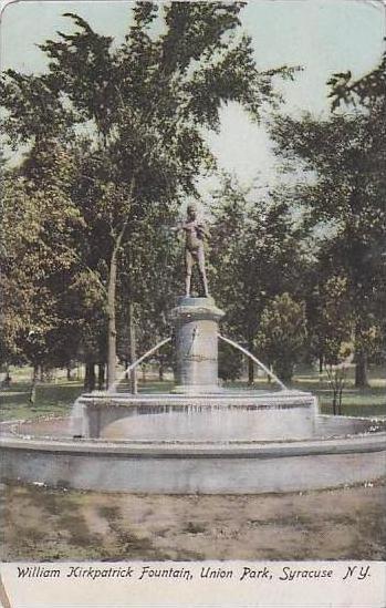 New York Syracuse William Kirkpatrick Fountain Union Park