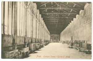 Italy, Pisa, Campo Santo, Galleria Nord, early 1900s unused Postcard