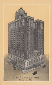 BALTIMORE, Maryland, 1900-10s; Lord Baltimore Hotel, Baltimore and Hanover Sts.
