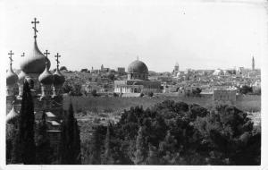 Jerusalem Israel General View Of City Real Photo Antique Postcard K10020