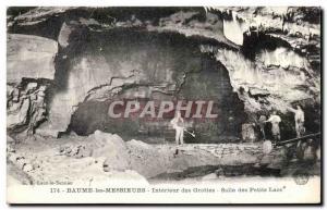 Old Postcard Baume Les Messieurs Caves Interior Salle Des Petis Lakes
