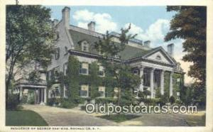 Residence of George Eastman, Rochester, NY USA Camera Postcard Post Card Old ...