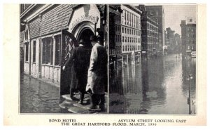 Flood  Disaster Connecticut Hartford Bond Hotel, Asylum St. looking East