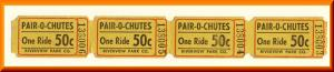 4 Riverview Park Pair-O-Chutes Tickets, Chicago, Illinois/IL, Amusement Park