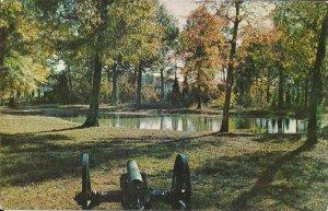 Shiloh TN, Civil War Battlefield Park, Cannon, Bloody Pond, 1960's