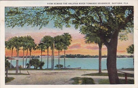 Florida Daytona View Across The Halifax River Towards Seabreeze 1925