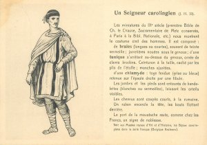 Postcard Carolingian lord typical outfit