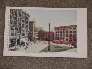 Pioneer Square, Seattle, Washington, unused vintage card