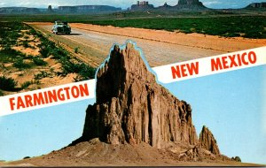 New Mexico Framington Shiprock and Road To Monument Valley