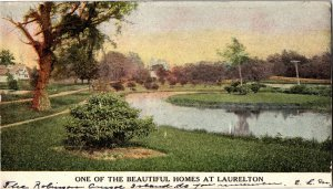 One of the Beautiful Homes at Laurelton Jamaica Queens NY c1907 Vtg Postcard S21