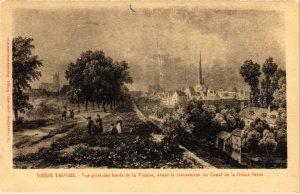 CPA Vieux TROYES - Vue prise des bords de la Vienne (71660)
