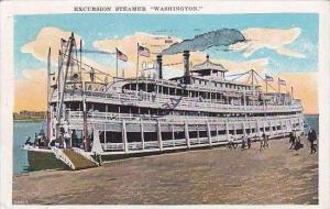 Excursion Steamer  Washington  1930