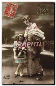 Old Postcard Fantaisie Child Fur