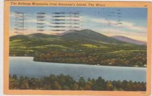 Scenic View of the Belknap Mountains from Governor's Island, The Weirs, Conne...