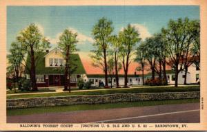 Kentucky Bardstown Baldwin's Tourist Court Curteich