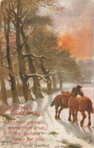 Harry Payne. Cold Quarter Tuck Oilette Glorious Winter Ser. PC # 9569