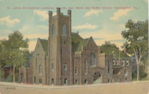 HUNTINGDON, Pennsylvania, 1900-10s; St. James Evangelical Lutheran Church