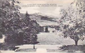 Colorado Colorado Springs Pikes Peak From Hospital Window Union Printers Home...