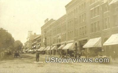 Real Photo - Railroad Street St Johnsbury VT Unused