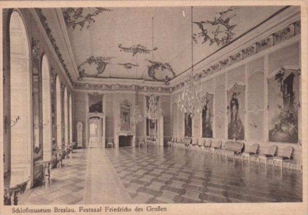 Germany Schlossmuseum Breslau Festsaal Friedrichs des Grossen
