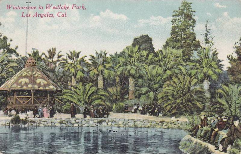 Winterscene in Westlake Park,  Los Angeles,  California,  00-10s