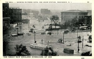 RI - Providence. 1938 Hurricane, Union Station, Biltmore Hotel Area