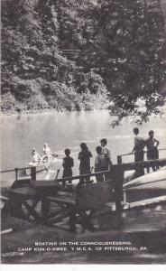 Boating On The Connoquenessing Camp Kon-O-Kwee Y M C A of Pittsburg Pennsylva...