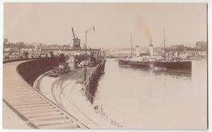 Kent; Folkestone From New Pier RP PPC, Unused By Photochrom, Animated Dock Scene