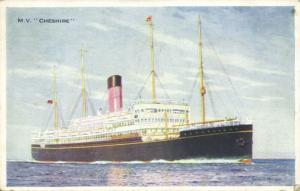Bibby Line Steamer M.V. Cheshire (1920s)