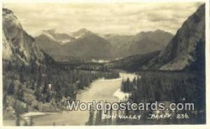 Canada Banff Bow Valley Real Photo