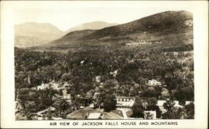 Jackson Falls House Birdseye View Real Photo Postcard
