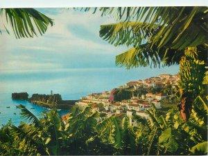 Portugal Postcard Madeira Camera de Lobos fishing village panorama
