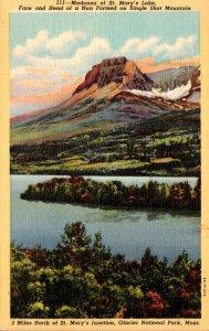 Montana Glacier National Park Madonna Of St Mary's Lake Curteich