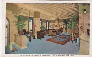 The Lounge Hotel Bristol West 48th Street East Of Broadway New York City New ...