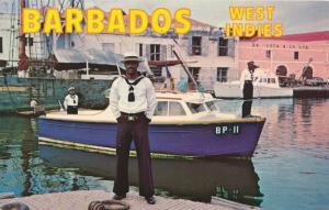 Harbor Police Boat - Bridgetown, Barbados, West Indies - pm 1971 - Roadside
