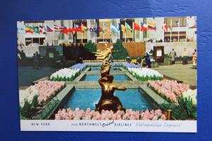 New York via NORTHWEST Orient AIRLINES Metropolitan Express-Rockefeller Center