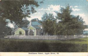 Apple River Illinois~Green House~Picket Fence~1908 Postcard