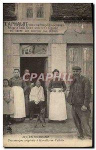 Old Postcard In Sologne An original banner Marcilly in Villette Hairdresser W...