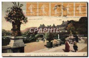 Old Postcard Paris Le Jardin Du Luxembourg Palais Du Senat